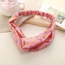 Korean style cross chiffon print hairband wholesale NHPJ351389