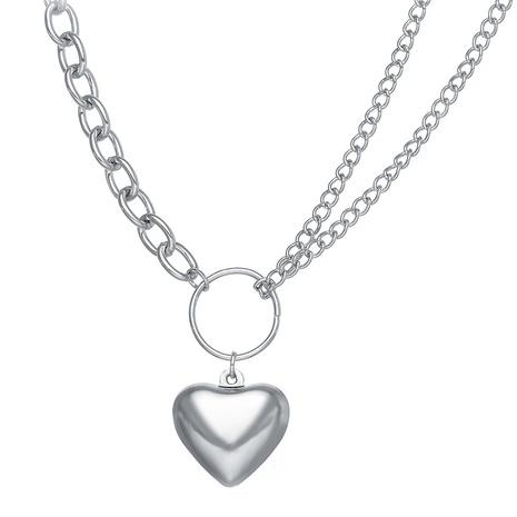 nouveau collier de chaîne exagérée avec pendentif lettre de style de mode NHPJ351400's discount tags