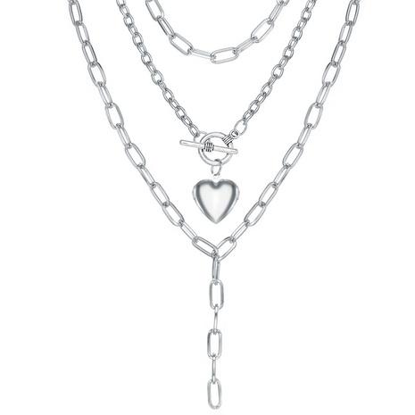 nouveau collier de petit papillon en alliage de coeur de pêche de style de mode NHPJ351406's discount tags