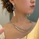 Retro Baroque Pearl Circle Drop Glazed Arrow Necklace NHYQ351414