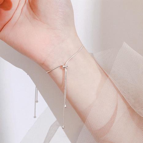 bracelet en forme de Y en argent s925 de mode en gros NHLON351467's discount tags