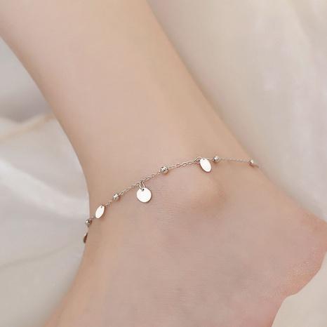 Mode 925 Sterling Silber geometrische Scheibe Fußkettchen Großhandel NHLON351472's discount tags
