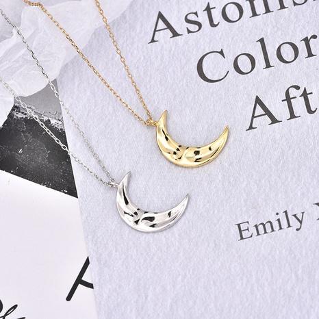 Collier en argent coréen pendentif lune en or s925 NHLON351531's discount tags