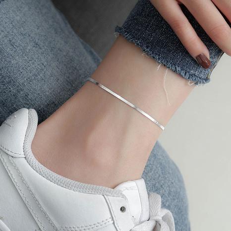 Bracelet de cheville chaîne en argent 925 avec os de serpent coréen NHLON351549's discount tags