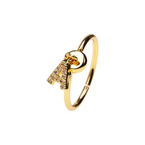 bague à pendentif zircon alphabet anglais fashion style 26 NHPY351578's discount tags