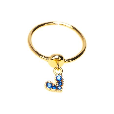nouvelle bague pendentif Love en zircon incrusté de couleur NHPY351579's discount tags