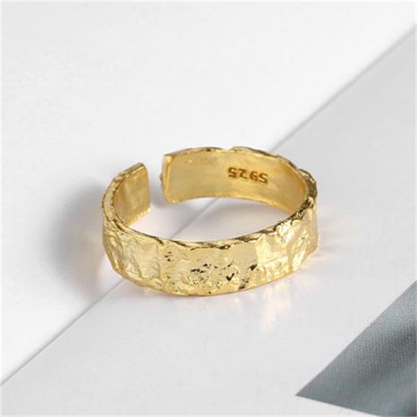 anneau ouvert de surface de style de mode concave-convexe en argent s925 NHLON351660's discount tags