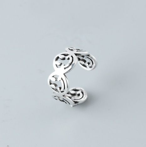 Mode s925 Sterling Silber hohlen Smiley-Gesichtsring NHLON351704's discount tags