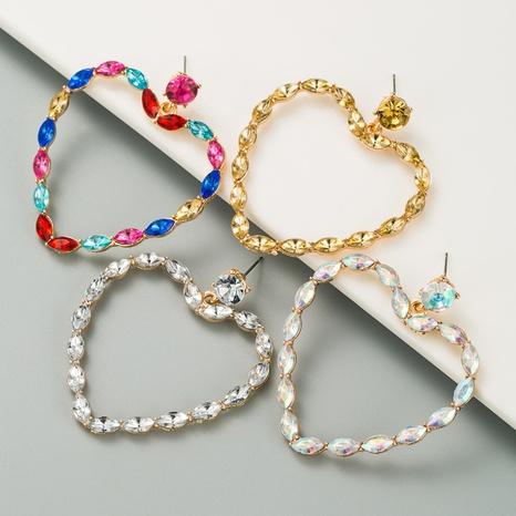 Boucles d'oreilles pendantes en forme de coeur creux en diamant NHLN351743's discount tags