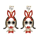 cartoon character little girl styling alloy inlaid color rhinestones earrings NHLN351744