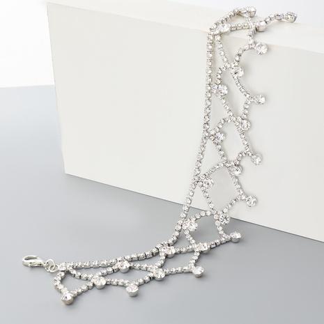 nouveau collier de maille de strass exagéré de style de mode NHJE352012's discount tags