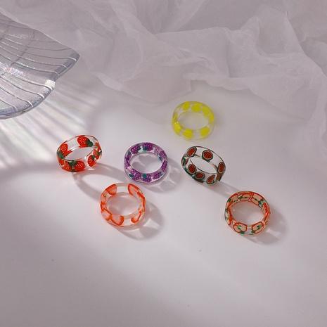 Transparenter Fruchtacrylring der koreanischen geometrischen Farbe NHMS352051's discount tags