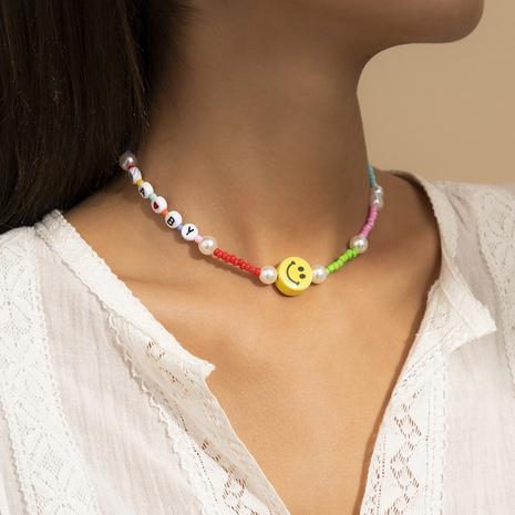 Collier de perles de lettre acrylique de style plage de mode NHXR352230's discount tags