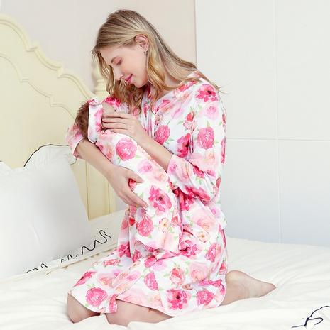 mode nouveau style mère bébé pyjama imprimé tailleur jupe de maternité NHWO352273's discount tags