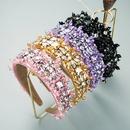 fashion handsewn crystal glass diamond headband  NHLN352276