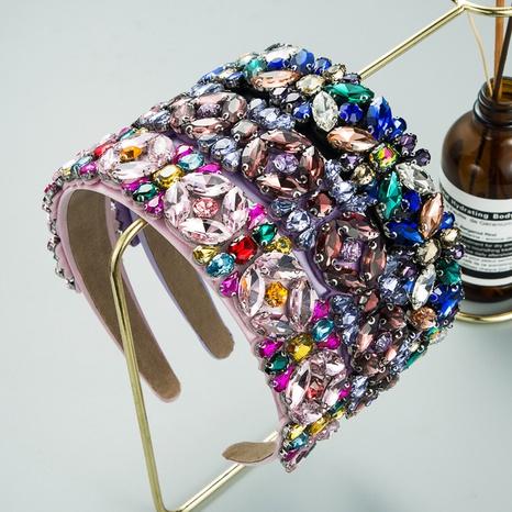 barockes mehrschichtiges Glasdiamantzubehör Blumenstirnband NHLN352277's discount tags