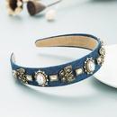 Baroque butterfly diamond pearl headband  NHLN352281