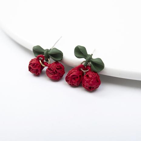 Boucles d'oreilles coréenne Mori Hollow Cherry NHQIY352286's discount tags