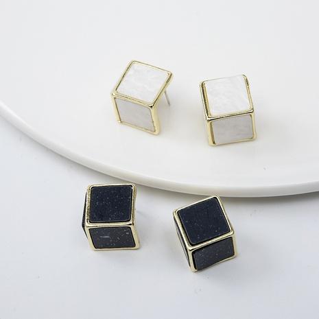 Boucles d'oreilles coréennes à aiguilles en argent 925 NHQIY352289's discount tags