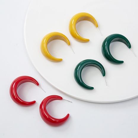 Boucles d'oreilles rondes géométriques en résine acrylique brillante Boucles d'oreilles en acétate pour femmes NHQIY352292's discount tags