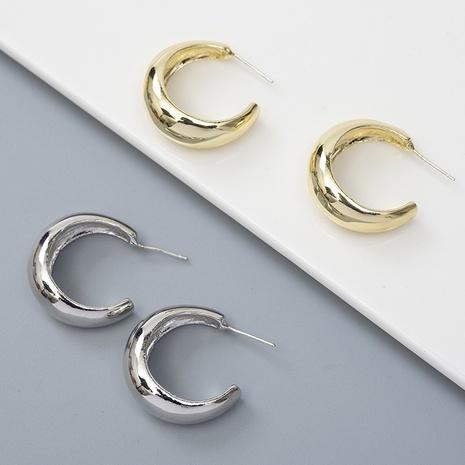 Créoles géométriques en métal Korea NHQIY352293's discount tags