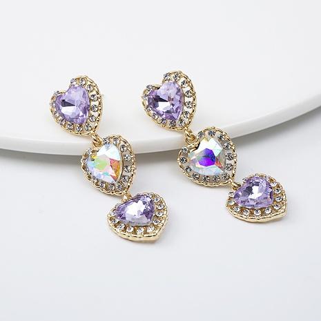 Boucles d'oreilles pompon d'amour baroque violet NHQIY352294's discount tags