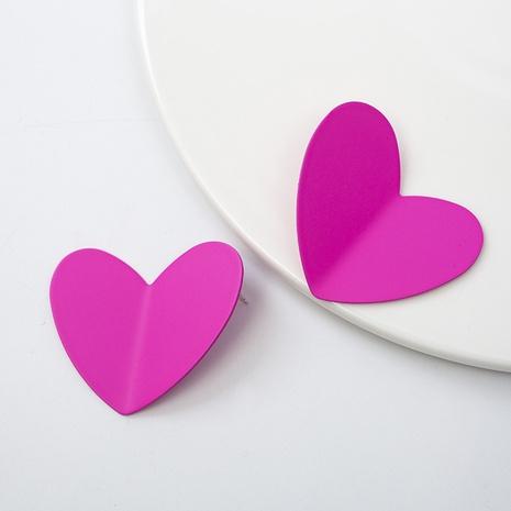 Boucles d'oreilles coeur en argent 925 Boucles d'oreilles couleur goutte d'huile NHQIY352295's discount tags