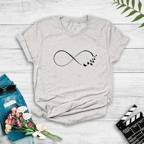 Camiseta con estampado de mariposa New Love de estilo simple a la moda NHZN352303's discount tags