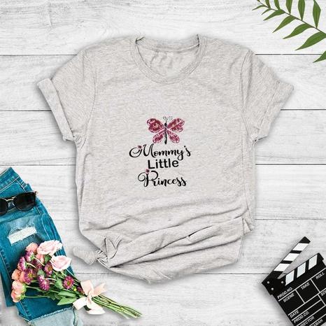 camiseta de manga corta con estampado de mariposa de nuevo estilo de moda NHZN352301's discount tags
