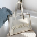 fashion simple new letter jelly transparent handbag  NHTG352460