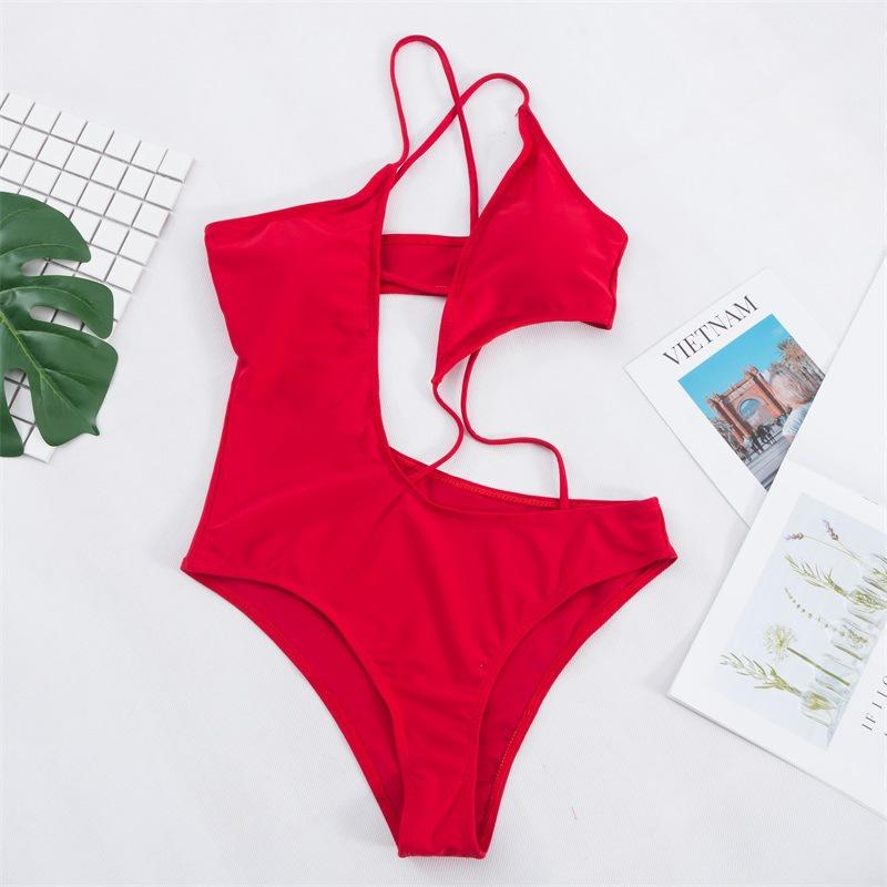 nouveau style de mode bikini une pice sexy de couleur unie NHHL352544