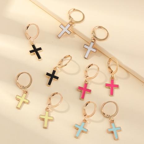 Boucles d'oreilles pour enfants multi-pièces à croix d'huile dégoulinant de mode NHNU352775's discount tags
