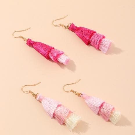 boucles d'oreilles à pampilles en coton de couleur dégradé multicouche perle de style ethnique NHNU352773's discount tags