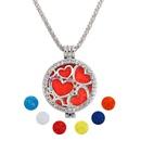 fashion full of diamond heart necklace wholesale  NHAYN352830