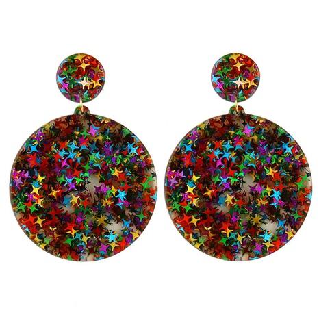 boucles d'oreilles à paillettes acryliques rondes géométriques simples de style ethnique NHAYN352838's discount tags
