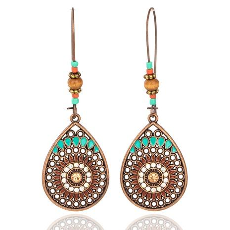 Boucles d'oreilles perles de riz creuses goutte d'eau diamants NHAKJ352845's discount tags