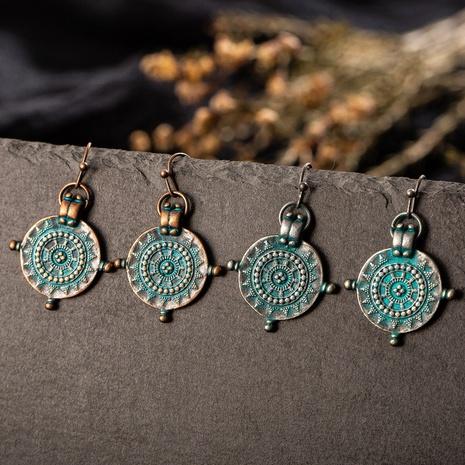 boucles d'oreilles à pendentif sculpté en forme de roulette irrégulière de style ethnique NHAKJ352850's discount tags