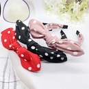 new Korean fashion flannel solid color polka dot bow headband NHHER352864