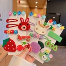 Childrens cute bow resin hairpin wholesale NHCQ352920