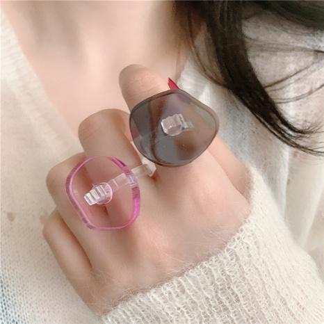 anillo de acrílico de forma de nube de hongo transparente de moda NHYQ353010's discount tags