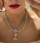 fashion heart little angel pendent multilayer necklace wholesale  NHYQ353021