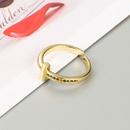 fashion geometric copper plated gold microinlaid zircon ring  NHLN353045
