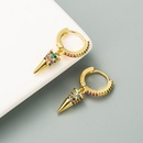 Fashion Awl Shape Color Goldplated Copper Stud Earrings  NHLN353049