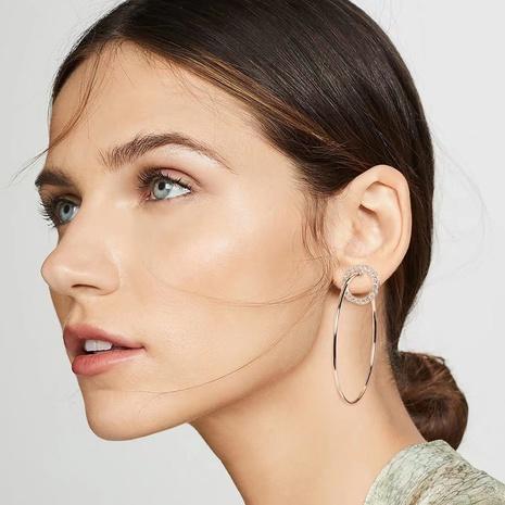 Boucles d'oreilles géométriques en diamant en alliage multicouche NHJE353060's discount tags