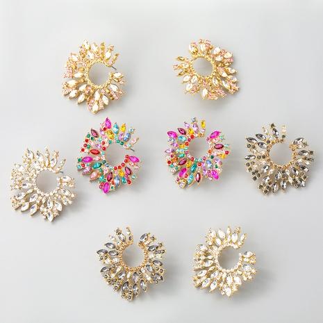 Boucles d'oreilles tournesol en alliage de diamant de couleur mode NHJE353056's discount tags