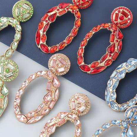 boucles d'oreilles géométriques en alliage ovale NHJE353064's discount tags