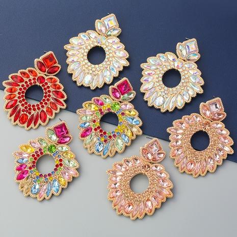 boucles d'oreilles à fleurs géométriques en alliage de mode NHJE353065's discount tags