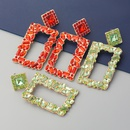 fashion rectangular alloy colored diamond geometric earrings  NHJE353071