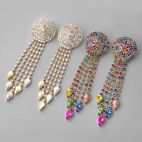 Boucles d'oreilles à pompon rondes en alliage convexe rondes en gros NHJE353072's discount tags