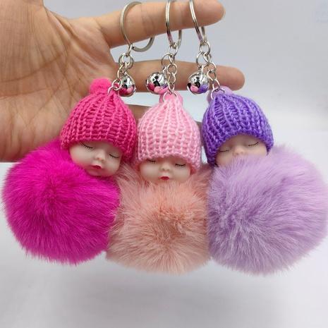 imitation rex rabbit fur ball cartoon sleeping doll pendant keychain  NHDI353073's discount tags